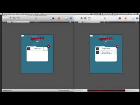 Developing GameSalad Multiplayer Game - Video 11 - Working 'End Game' functionality