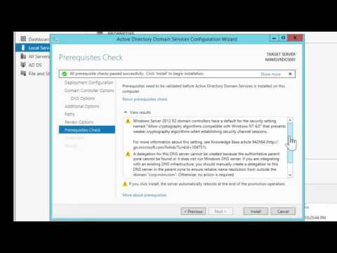 Installing and Configuring the Active Directory Domain Services Role (Domain Controller) in Windows