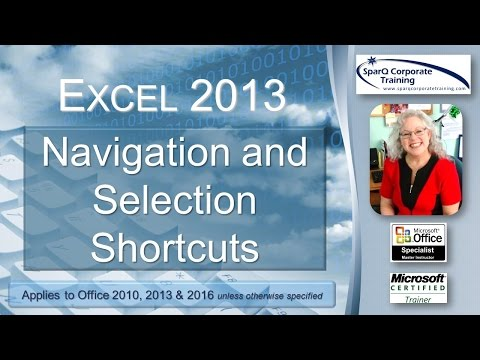 Excel 2013 - Navigation and Selection Shortcuts