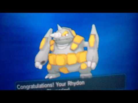 Shiny Rhydon + Evolution!
