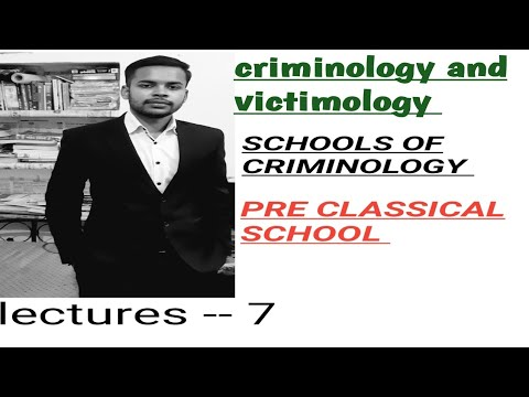 CRIMINOLOGY AND VICTIMOLOGY CLASSES IN HINDI !! PRE CLASSICAL SCHOOL !!