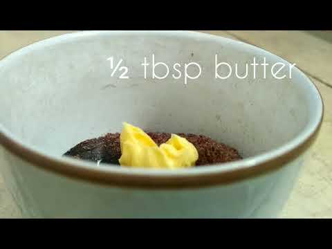 Simple rice cooker recipe chocolate lava mug cake