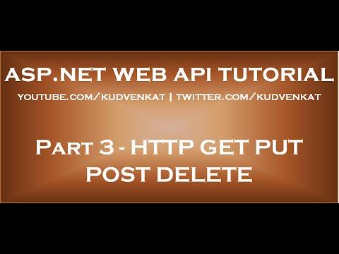 HTTP GET PUT POST DELETE