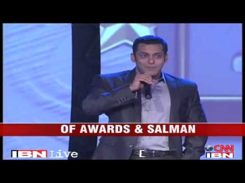 Salman Khan takes the stage to accept an award after 14 years