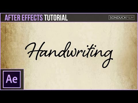After Effects Tutorial: Handwriting Effect Animation