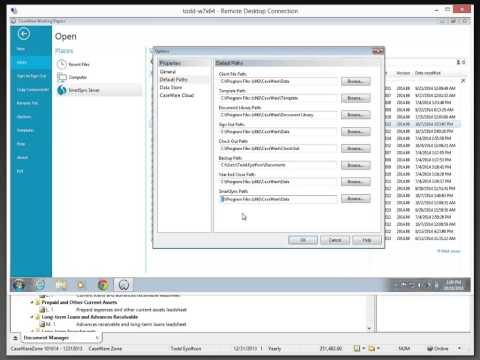 Working Papers: Downloading a Sync copy from CaseWare Cloud
