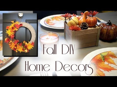 2017 Fall DIY Home Decors ~ Ft. Dollar Tree Items 🍁Fall Decorations 🍁
