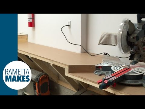 How to Build a Solid Mitre Saw Station // DIY