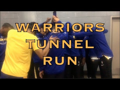 Pregame tunnel run in Houston before 2018 WCF G5