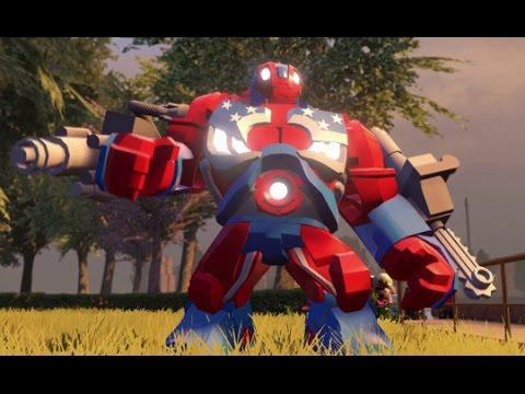 LEGO Marvel's Avengers - Detroit Steel Unlock Location + Free Roam (Character Showcase)