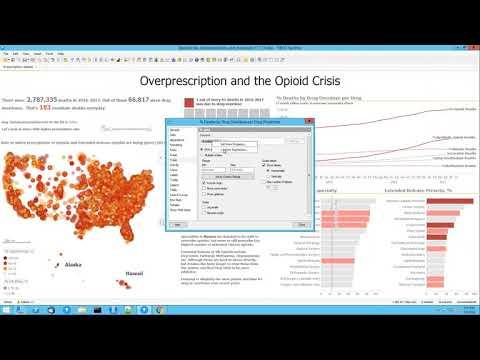 US Opioid Data: Spotfire Analysis Overview - Gartner Bakeoff 2018