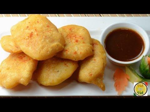 Potato Fritters - Aloo Bajji Pakora  - By Vahchef @ vahrehvah.com