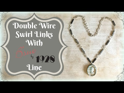 Double Wire Swirl Links With B'sue by 1928 Line