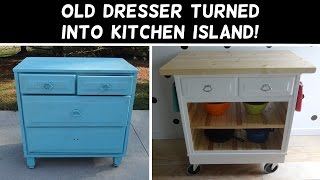 Turn a Dresser Into a Kitchen Island!