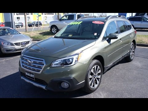 2017 Subaru Outback 2.5i Limited Walkaround, Start up, Tour and Overview