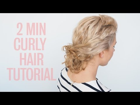 Easy curly hairstyle tutorial - Curly twist bun