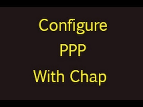 Configure PPP with CHAP