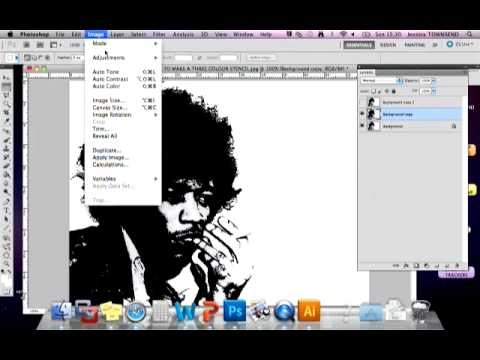 TUTORIAL: How to make a three colour stencil (Photoshop)