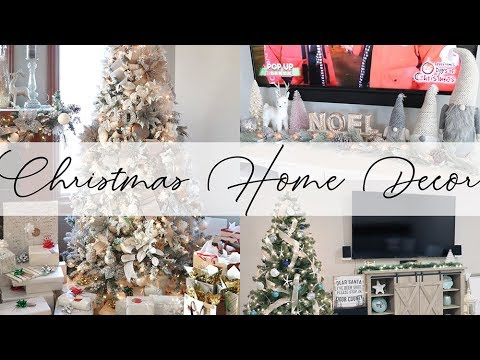 Christmas Home Decor Tour 2017 🎄 Pale Rustic Glam | House to Home 🏡 Ep 14