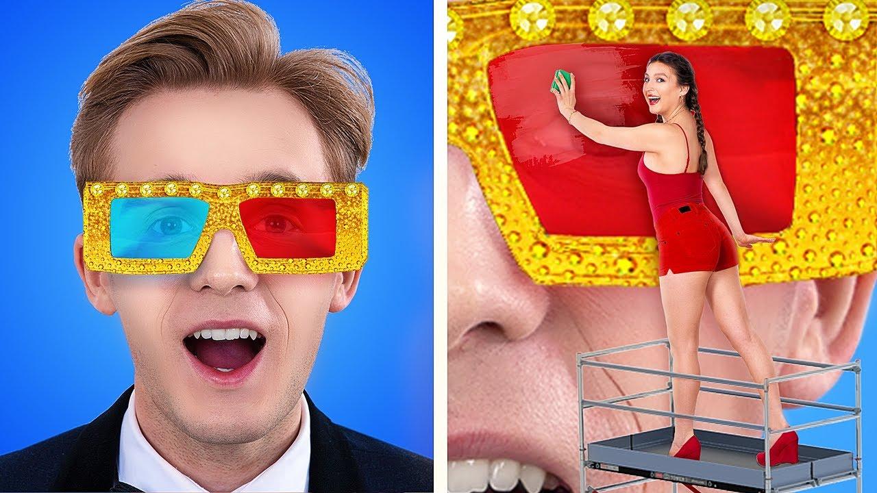Rich vs Broke Movie Theater
