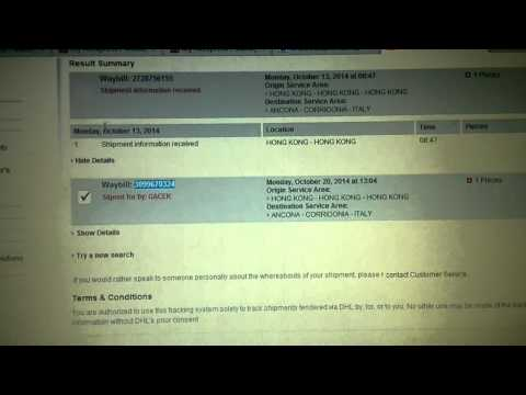 DHL tracking number