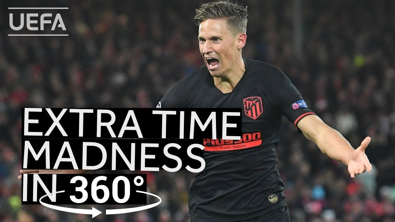 Relive ATLÉTICO extra time COMEBACK at ANFIELD in 360°!!