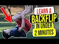 How To Do A Backflip For Beginners On Ground