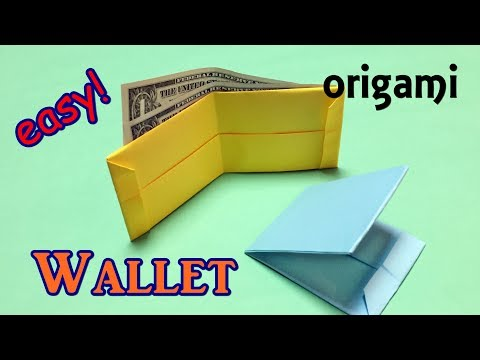 Origami Easy for Beginners but Cool   How to Make a Paper Wallet from A4   No Tape/Scissors