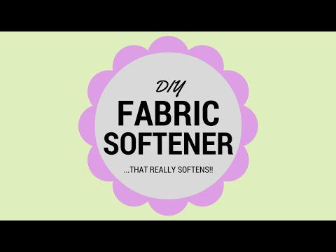 DIY Fabric Softener that REALLY Softens!!