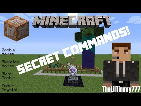 Secret Commands: Giant Zombie, Zombie Horse and More! | Minecraft