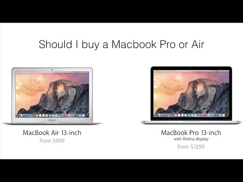 Should I buy a Macbook Pro or Air