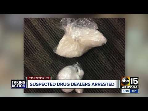 Two suspected drug dealers arrested in north Phoenix