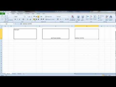 Excel Text Alignment