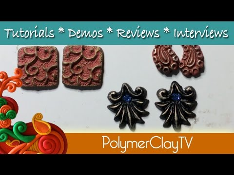 How to make 5 earrings from one mold and condition cold polymer clay