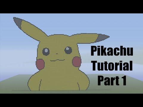 Minecraft Pixel Art Tutorial: How to make Pikachu Part 1 (Pokemon)
