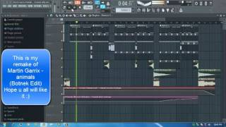 Martin Garrix Animals (Botnek Edit) Fl studio remake