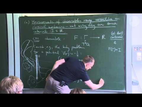 Axioms of Quantum Mechanics - Lec01 - Frederic Schuller