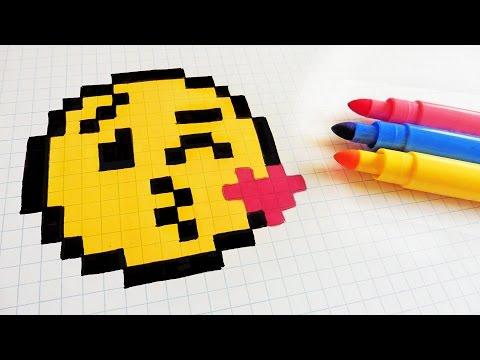Pixel Art Smiley Bisous