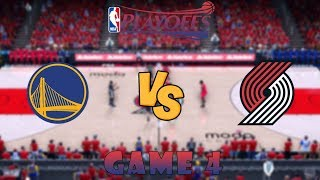 Download Golden State Warriors vs. Portland Trail Blazers - Game 4 - Conf. Finals - NBA Playoffs! - NBA 2K19 Video
