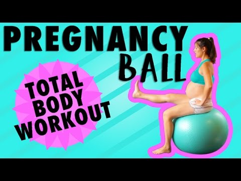 Exercise Ball Workout | Pregnancy Workout Third Trimester