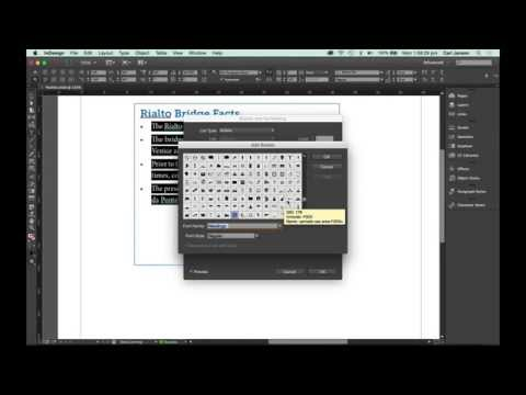 How to change default round bullets in Bulleted List in InDesign