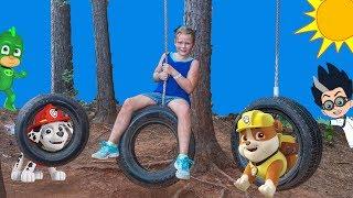 PAW PATROL Disney PJ Masks Assistant Ropes Course and Zip Line Scavenger Hunt