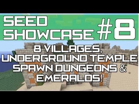 Minecraft Xbox 360 & PS3 : TU15 Seed - Emeralds, 8 Villages, Underground Desert Temple!