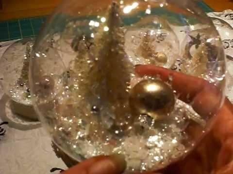 WATERLESS SNOW GLOBES  CHRISTMAS DECOR