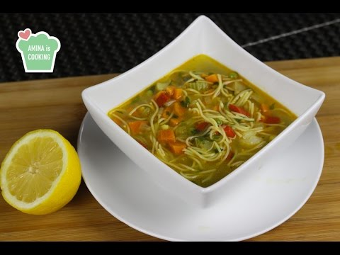 Homemade Vegetable Noodle Soup - Episode 103 - Amina is Cooking