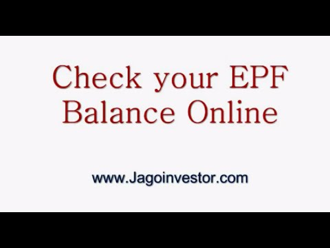 How to check your EPF Balance Online ?