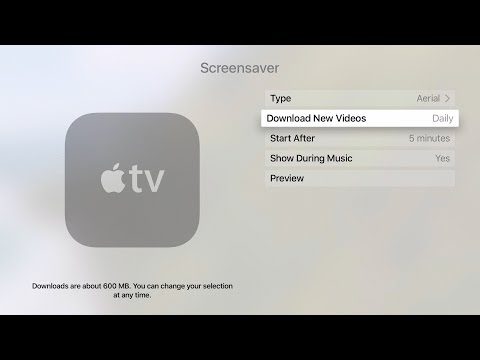 Apple TV Tips - Using and Download Cinematic Screen Savers