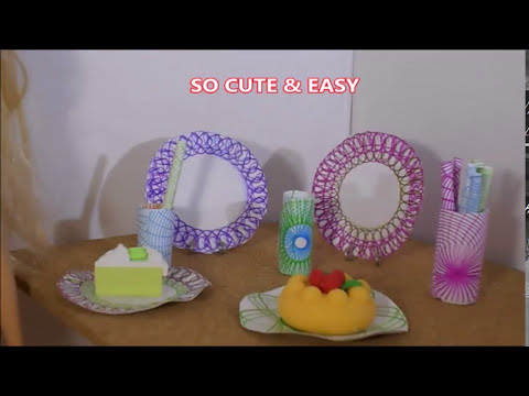 HOW TO MAKE DOLL PLATES CUP AND STRAWS!