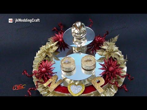 DIY Engagement / Wedding Ring Platter | How to make | JK Wedding Craft 078