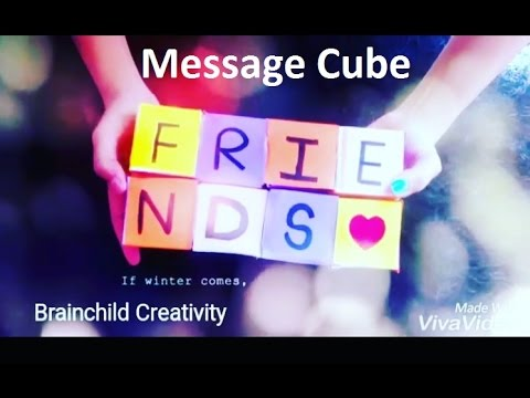 Message Cube | Valentine's Day Gift | Birthday | Anniversary | DIY | Friendship Day gift